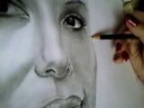 Eva Longoria Portrait Zeichnen, Schattierungen - Part 4