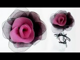 DIY Nylon Flowers + How To Dye Nylon Repurposing Ripped Pantyhose