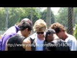 Cody Simpson Warming Up Backstage In Joliet, IL On June 26, 2011