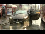 Maserati Door Crashed By Bus, Fail, Sickly Amazing