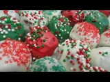 Red Velvet Christmas Truffles Cake Pops Without The Stick