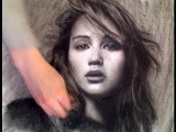 Jennifer Lawrence Hunger Games Portrait Drawn Upside Down