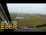 ARJ100 Noseview Landing In Brussels