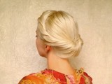 Wedding Hairstyles For Medium Long Hair Tutorial Bridal Prom Updo Gibson Tuck Roll