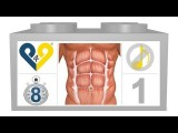 8 Min Home Abs Workout Level 1, No Music