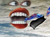 Funny, Fabulous Animated Music Video With Luscious Lips That Eat Cartoons: NOT A DANCE By HCTurk