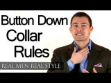 Mens Button Down Collar Rules - Button-Down Dress Shirt Collars & When To Wear - Style Tips
