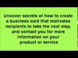 10 TIPS TO TURNING YOUR BUSINESS CARDS INTO REAL MONEY !