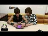 120330 Jonghyun & Taemin Playing Puzzle At Sponge