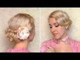 Easy Wedding Updo For Short Hair Tutorial Romantic Hairstyle For Curly Medium Long Hair